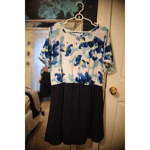 Charming Charlie Blue Floral Dress